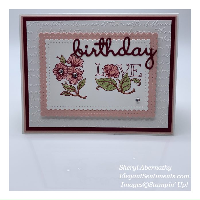 Floral birthday card made with Stampin' Up! products