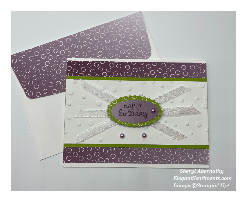 Birthday card and coordinated envelope made with Stampin' Up! products