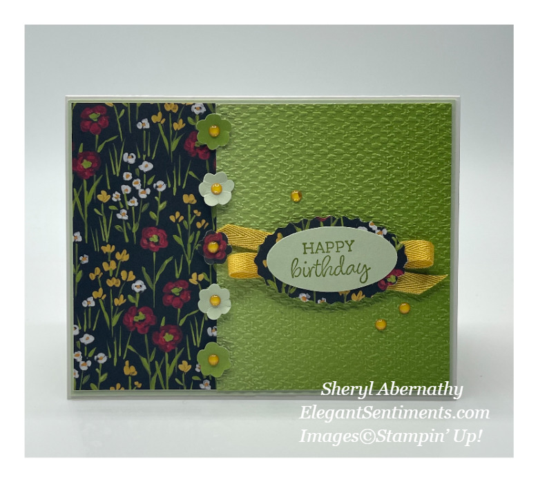 Birthday card make with Stampin' Up! products