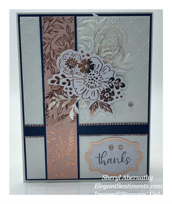 Thank you card made with Stampin' Up products