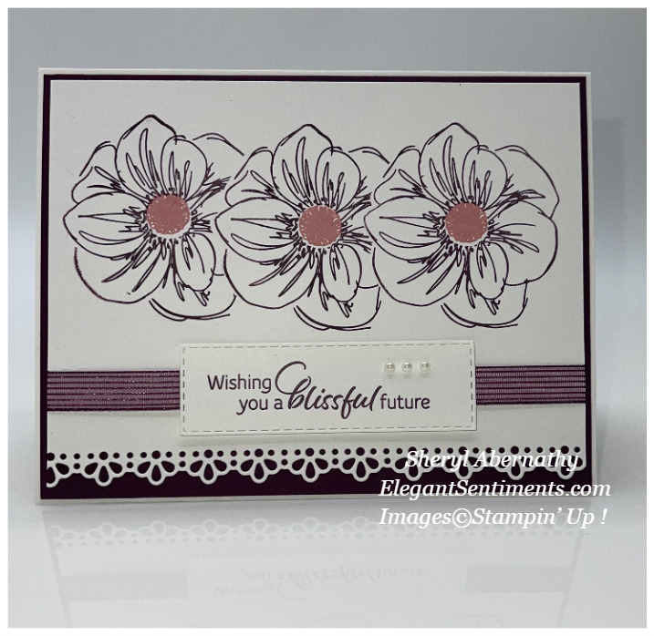 Anniversary card made with Stampin' Up! products