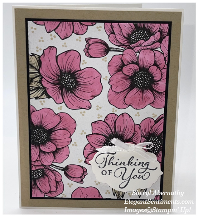 Thinking of you card made with Stampin' Up! producs