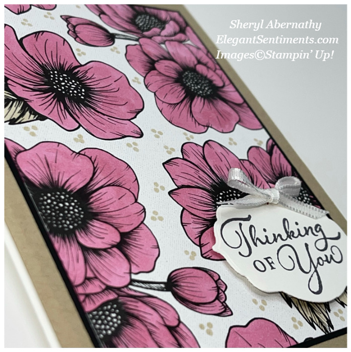 Close Up of a Thinking of You card made with Stampin' Up! products