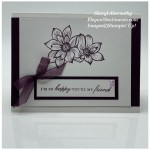 Friendship greeting card made with Stampin