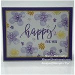 Greeting card made with Stampin