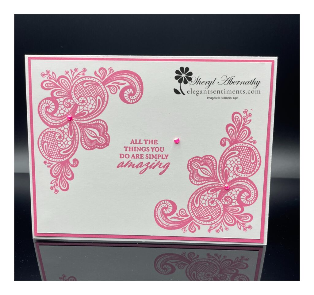 Thinking of You card made with Stampin' Up! products