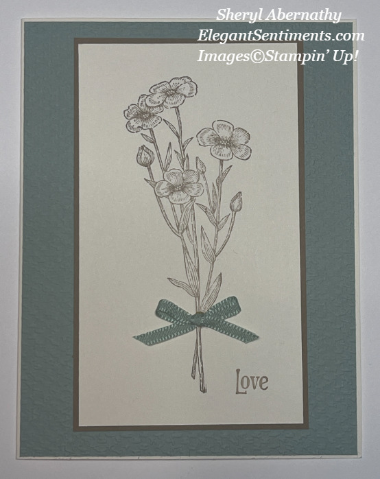 Greeting card made with Stampin; Up! products