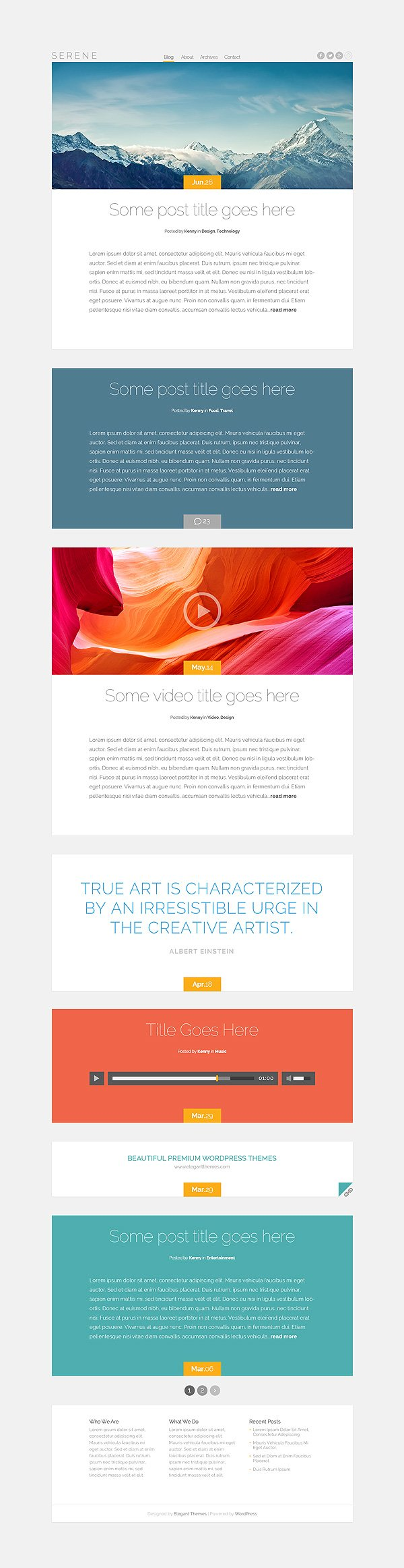 Cara Edit Template Wordpress : template, wordpress, Serene, Graceful, Blogging, Theme, Format, Support, Elegant, Themes