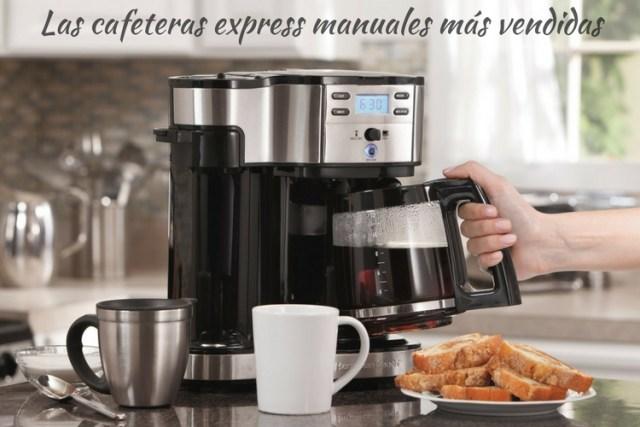 Las cafeteras express manuales más vendidas