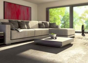 Pavimenti Per Soggiorno Moderno : Soggiorno moderno pavimento grigio pavimento grigio scuro finest