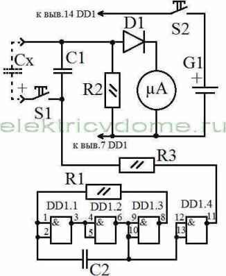 shema-pribora-dlya-proverki-kondensatorov