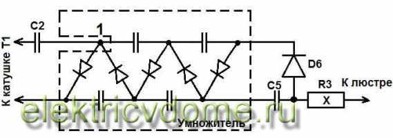 Shema-vysokovol'tnoj-chasti-na-osnove-umnozhitelja-UN8,5-25-1,2