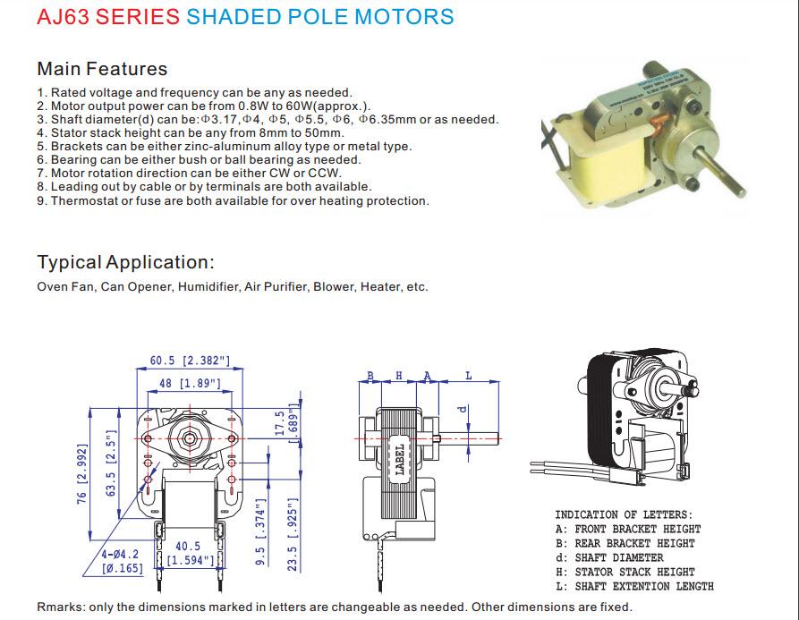 Skygge pol motor 11