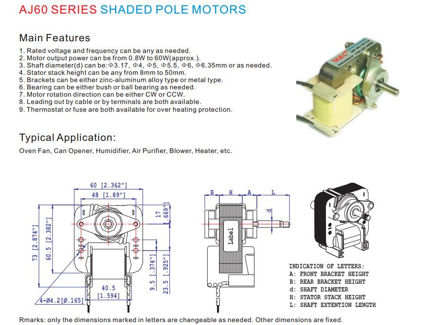 Skygge pol motor 5
