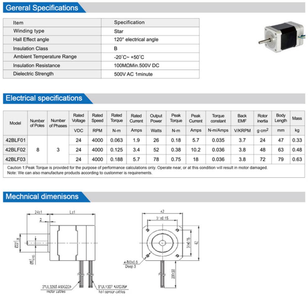 42BLF Brushless Dc Motor
