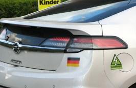 Sticker auf Opel Ampera auf der Wave 2013 (Die größte Elektroauto-Ralley der Welt: www.wavetrophy.com/)
