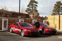 Rekordfahrt zweier Tesla Model S von Los Angeles nach New York - 2014. © Fotos: Tesla Motors