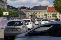 Treffpunkt in Klagenfurt beim Lindwurm