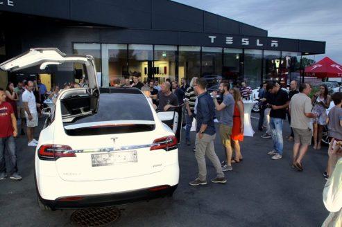 Model X bei der Founder-Party von ecar-rent in Graz. Foto: Volker Adamietz / Elektroautor.com
