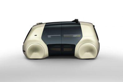 SEDRIC ? Die zweiteilige Schwenktür reicht bis ins Dach und gibt dem Design eine vertikale Struktur, die sich deutlich von heutigen Fahrzeugen unterscheidet.