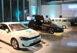 E-Golf, E-Taxi-Prototyp, VW Bulli und Audi A2. Foto: Elektroautor.com