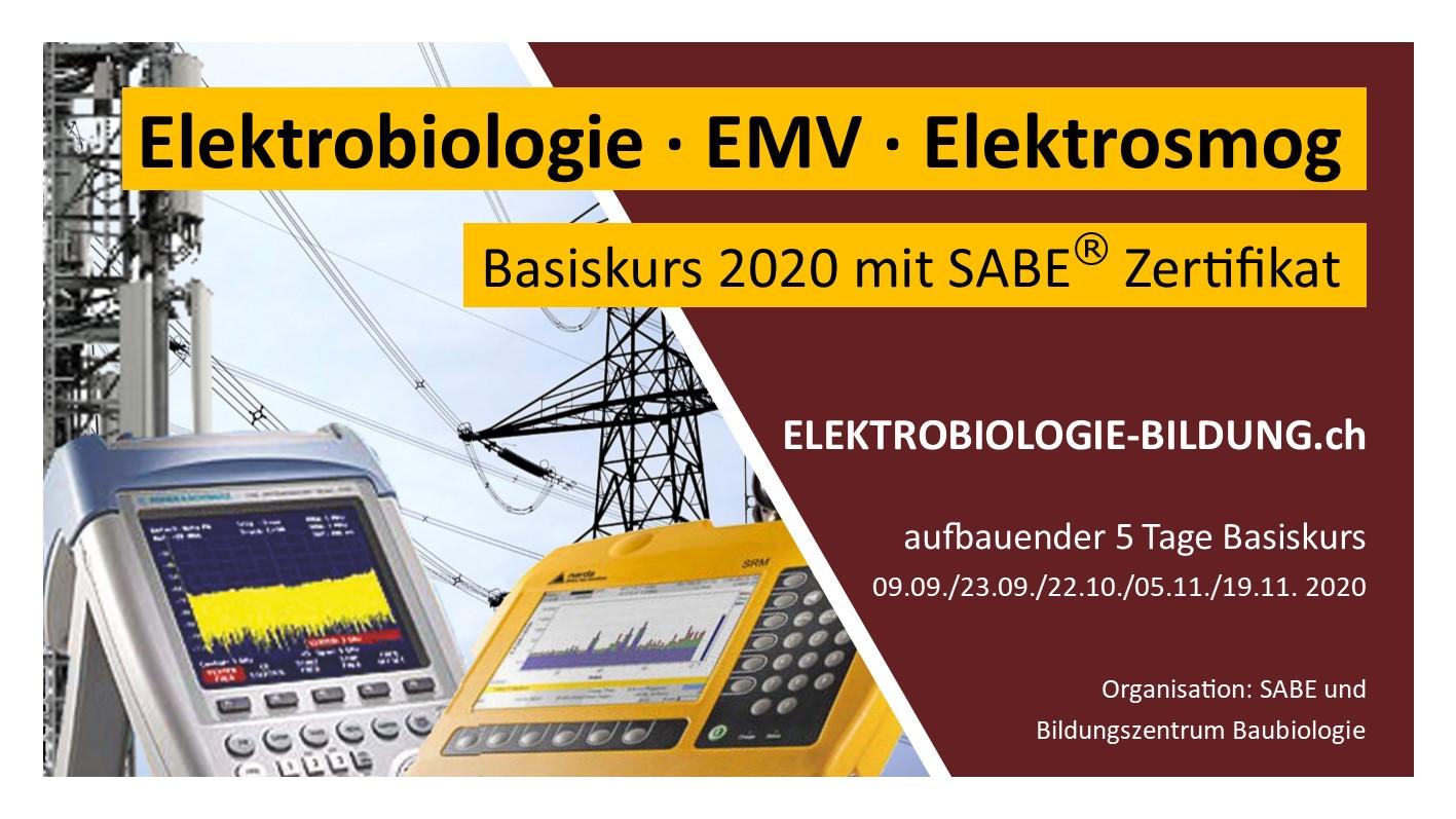 Basiskurs 2020 Elektrobiologie EMV Elektrosmog
