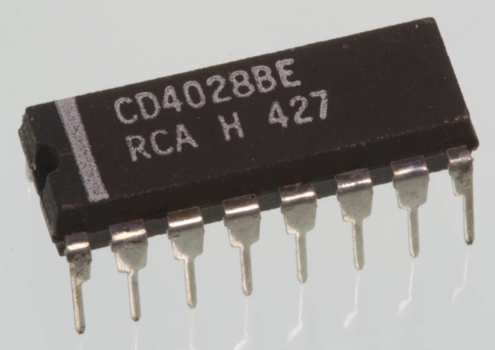 medium resolution of cd4028 bcd to decimal decoder dip 16