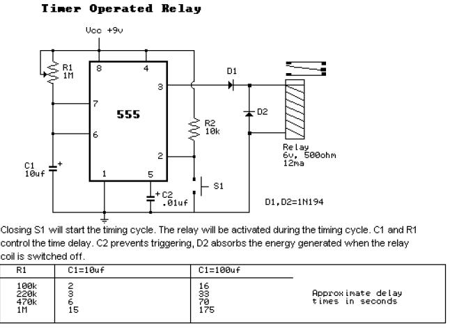 555 Timer Operated Relay 555 Timer Application, 555 Timer