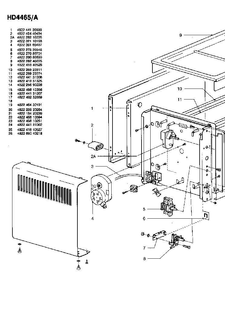 PHILIPS HD4465 Service Manual download, schematics, eeprom