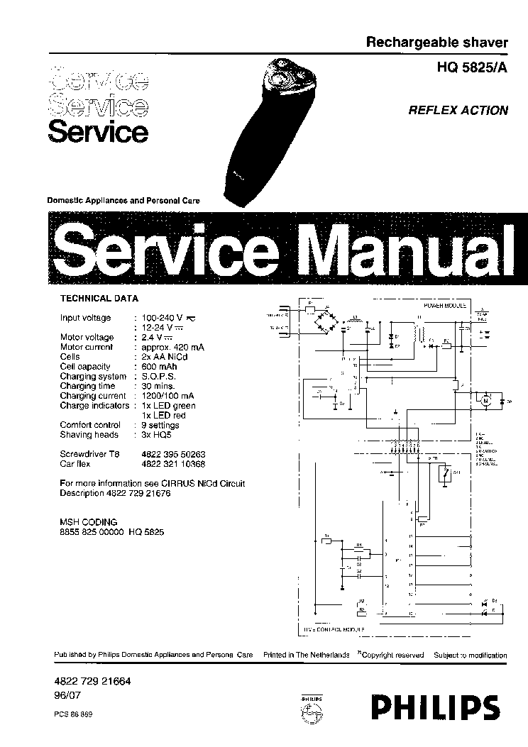PHILIPS FC8380 IMPACT-PLUS Service Manual download