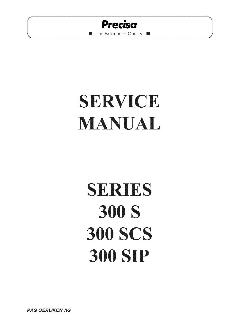 PRECISA MOISTURE-BALANCE HA-300 HA60 SM Service Manual