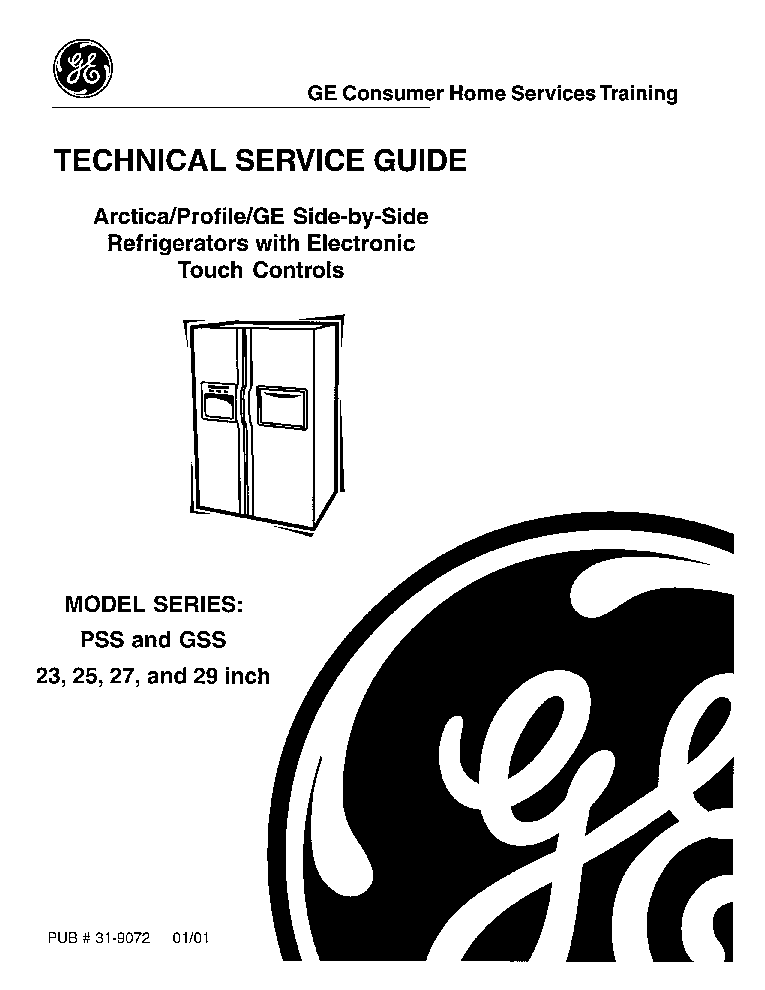 GENERAL ELECTRIC PSS,GSS-23,25,27,29 Service Manual