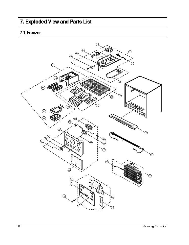 SAMSUNG SRV 57 EXPLDED VIEW PARTS LIST Service Manual