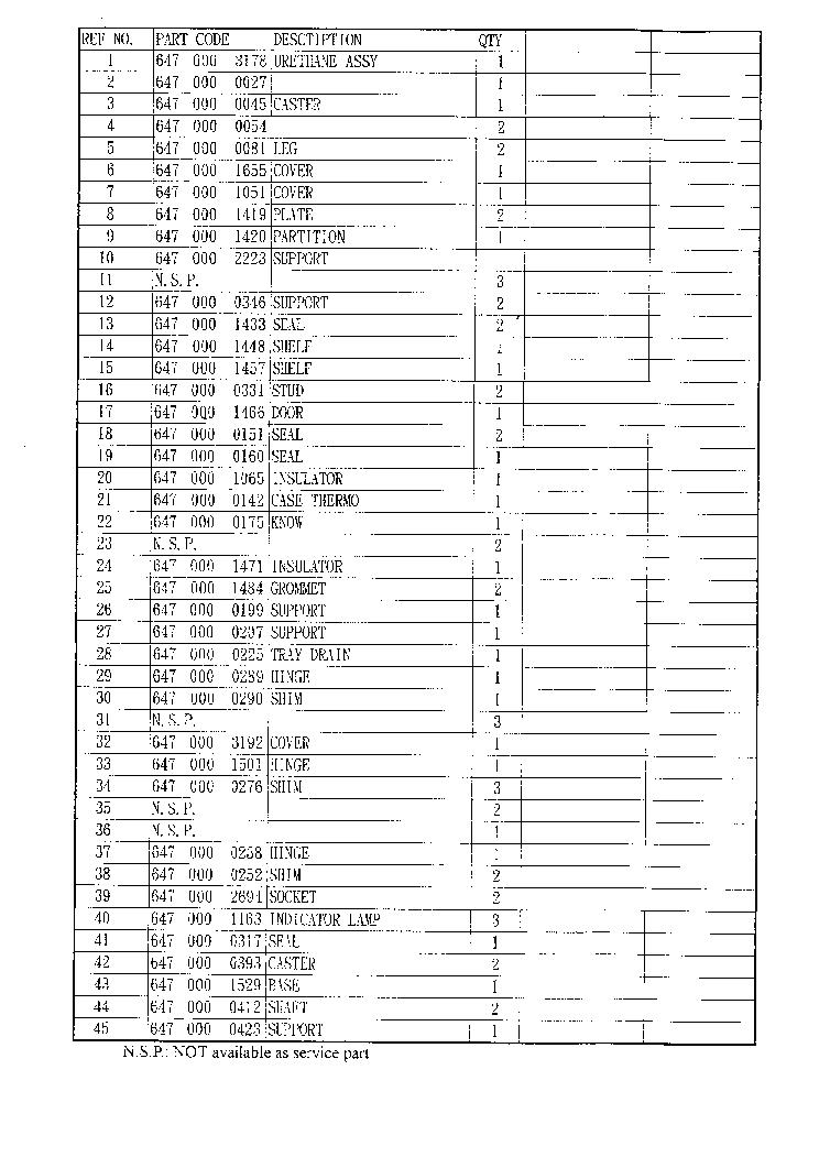 SANYO SR-66HX REFRIGERATOR Service Manual download