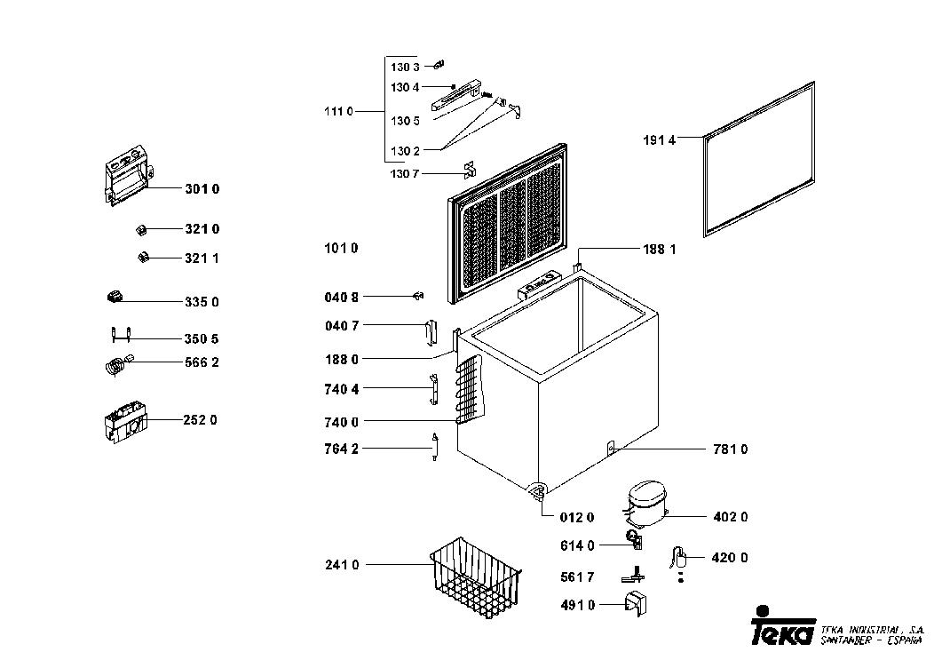 TEKA CH 167 Service Manual download, schematics, eeprom