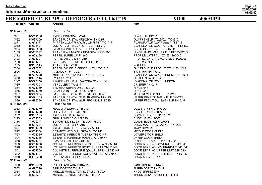 TEKA TKI-215 Service Manual download, schematics, eeprom
