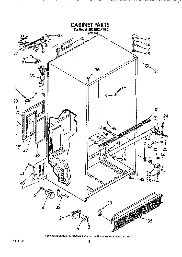 WHIRLPOOL EB22RKXXW00 Service Manual download, schematics