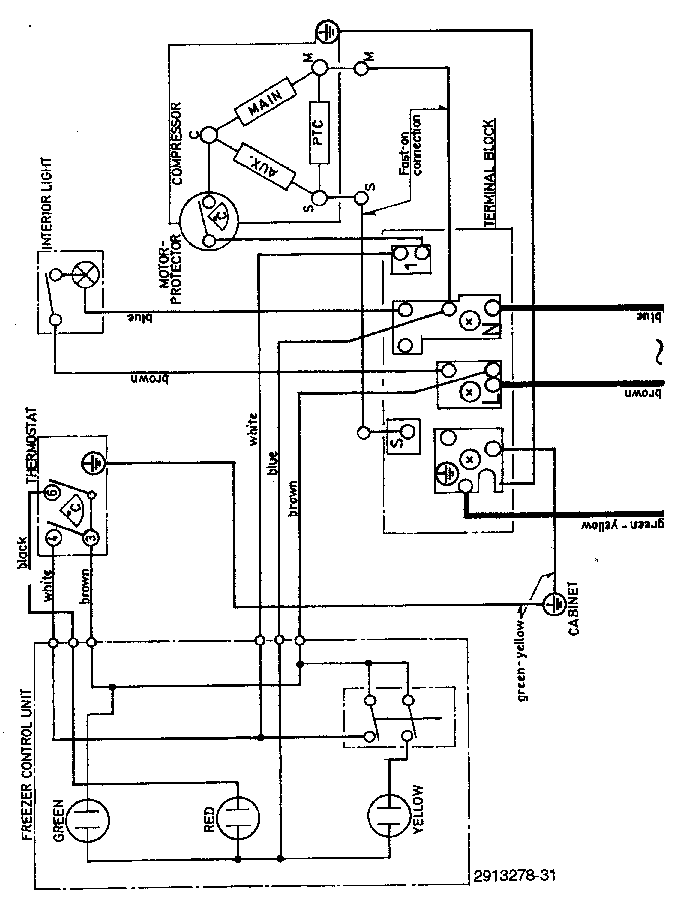 ZANUSSI ZAC380 FREEZER SCH Service Manual download