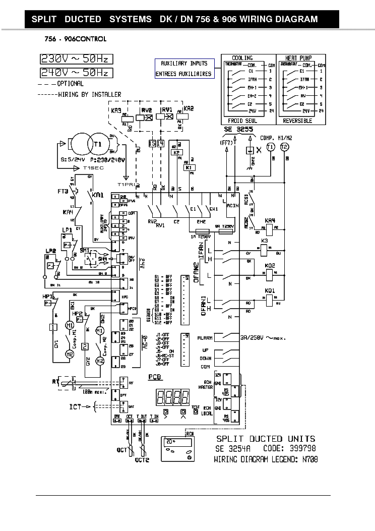 AIRWELL DS-35RCF GC-34RCC AIR-WIRNING-DIAGRAM Service