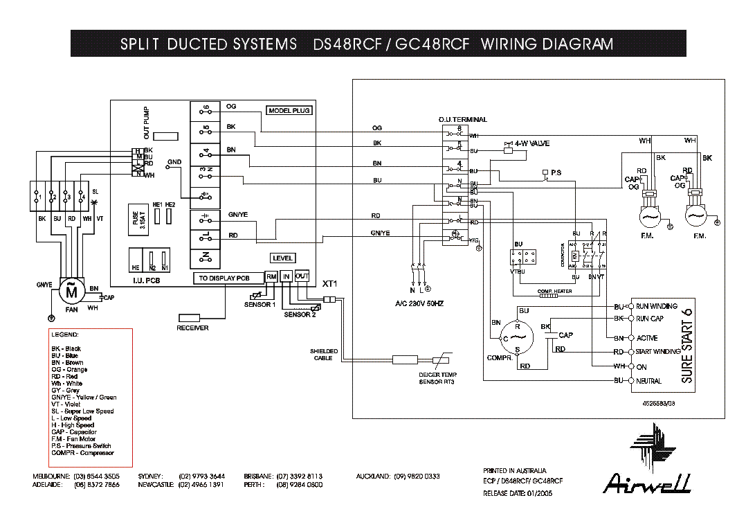 AIRWELL DS GC-28 30RCFA WIRING-DIAGRAM Service Manual