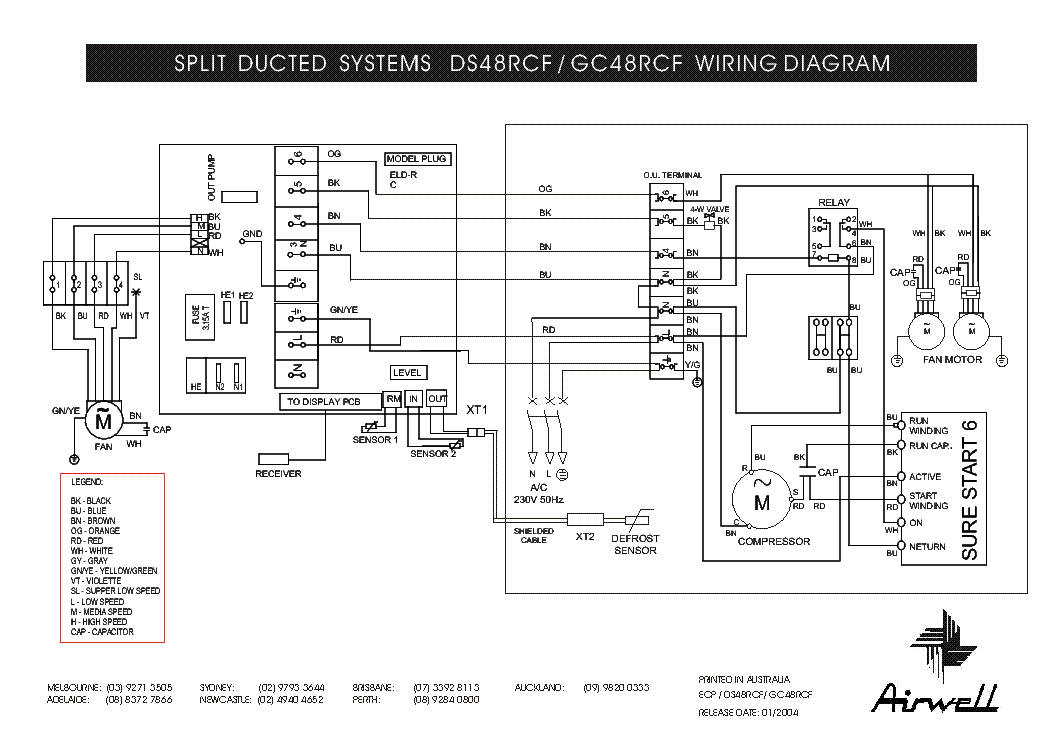 AIRWELL DS-48RCF GC-48RCF WIRING-DIAGRAM Service Manual