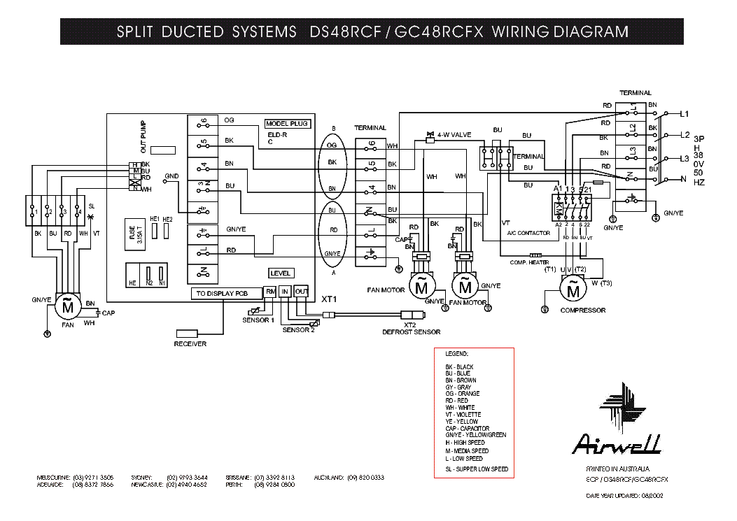 AIRWELL DS-48RCF GC-48RCFX WIRING-DIAGRAM Service Manual
