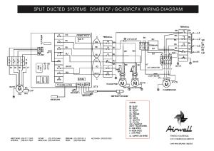AIRWELL DS48RCF GC48RCFX WIRINGDIAGRAM Service Manual
