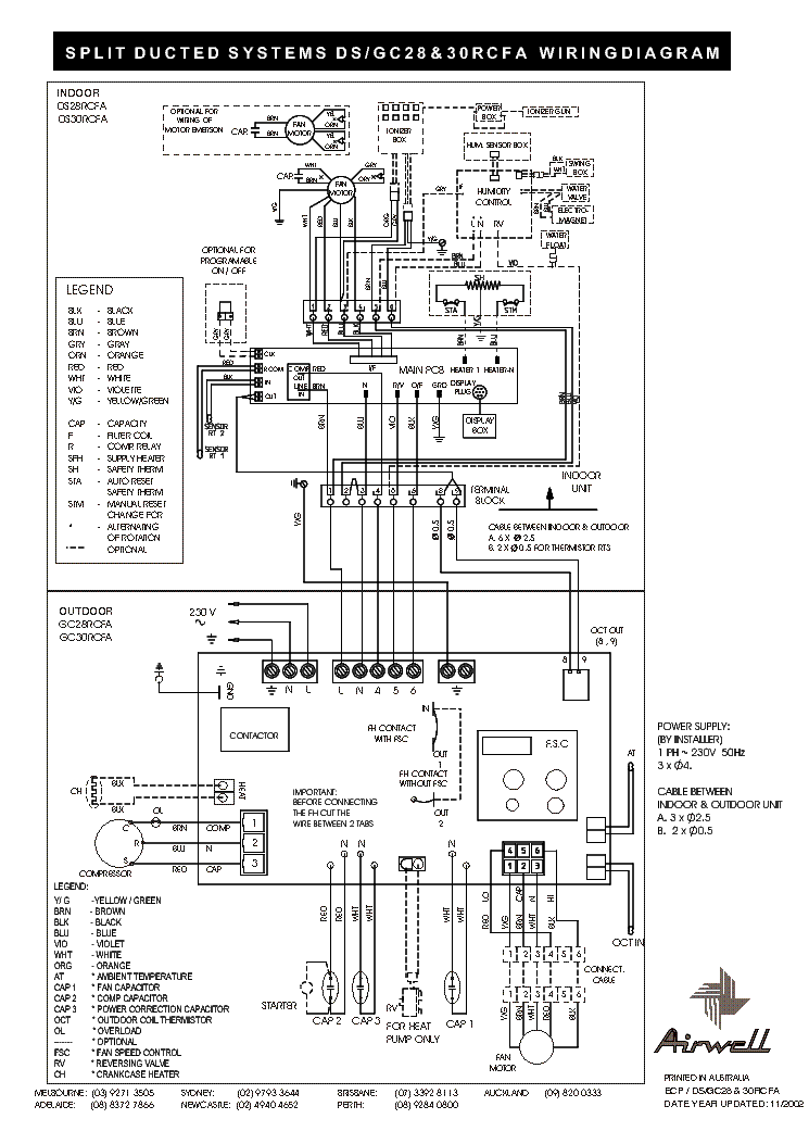 AIRWELL DS GC-28 30RCFA WIRING-DIAGRAM Service Manual free