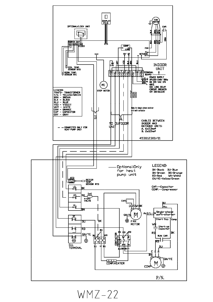 AIRWELL WMZ-22 WIRING-DIAGRAM Service Manual download