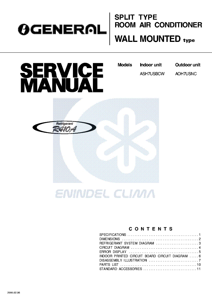 FUJI-ELECTRIC FUJITSU RS24LA RS30LA Service Manual