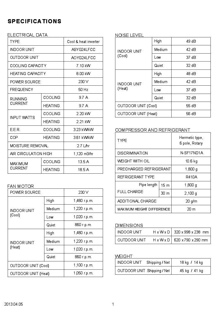 FUJITSU ASYG24LFCC AOYG24LFCC Service Manual download
