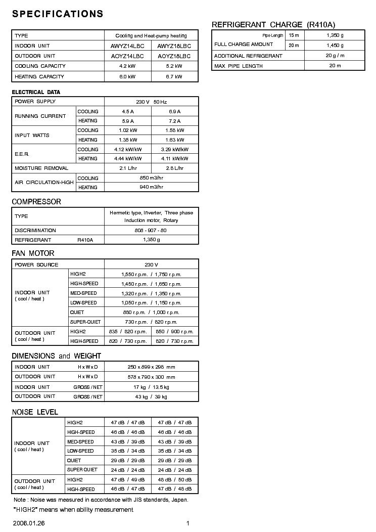 FUJITSU AWYZ14-18LBC AOYZ14-18LBC Service Manual download