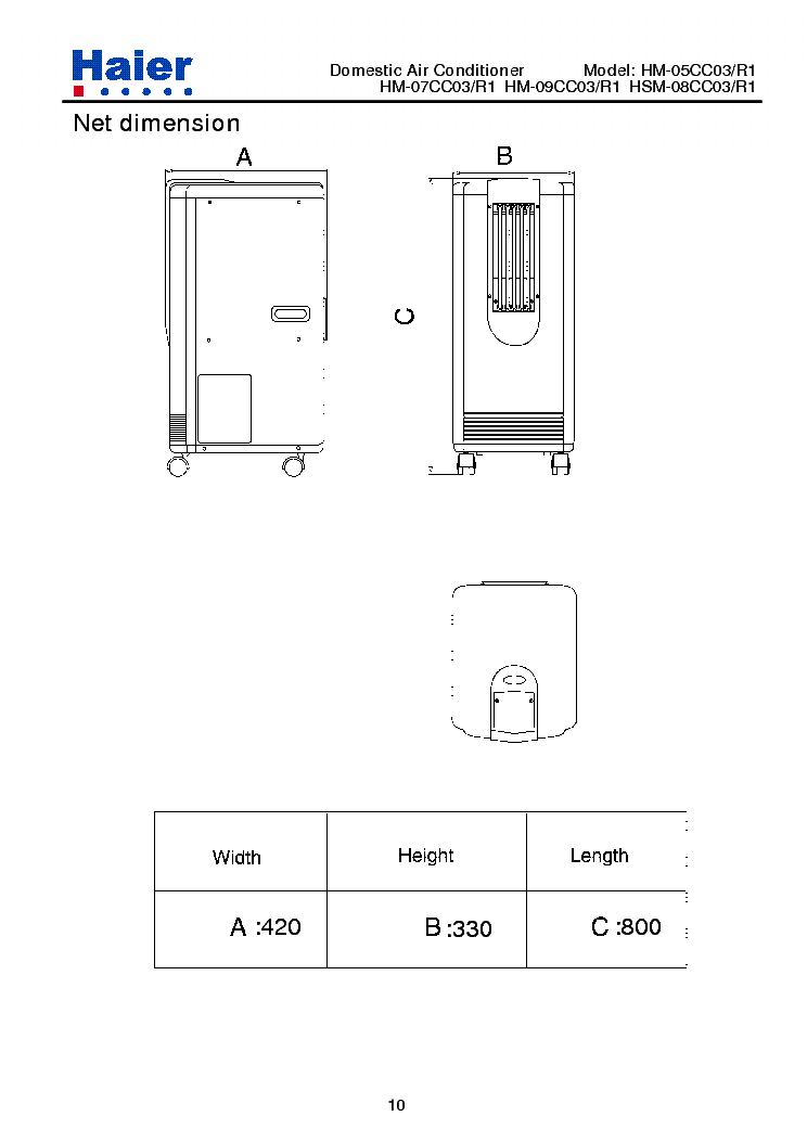 HAIER HM-09CC03-R1 Service Manual download, schematics