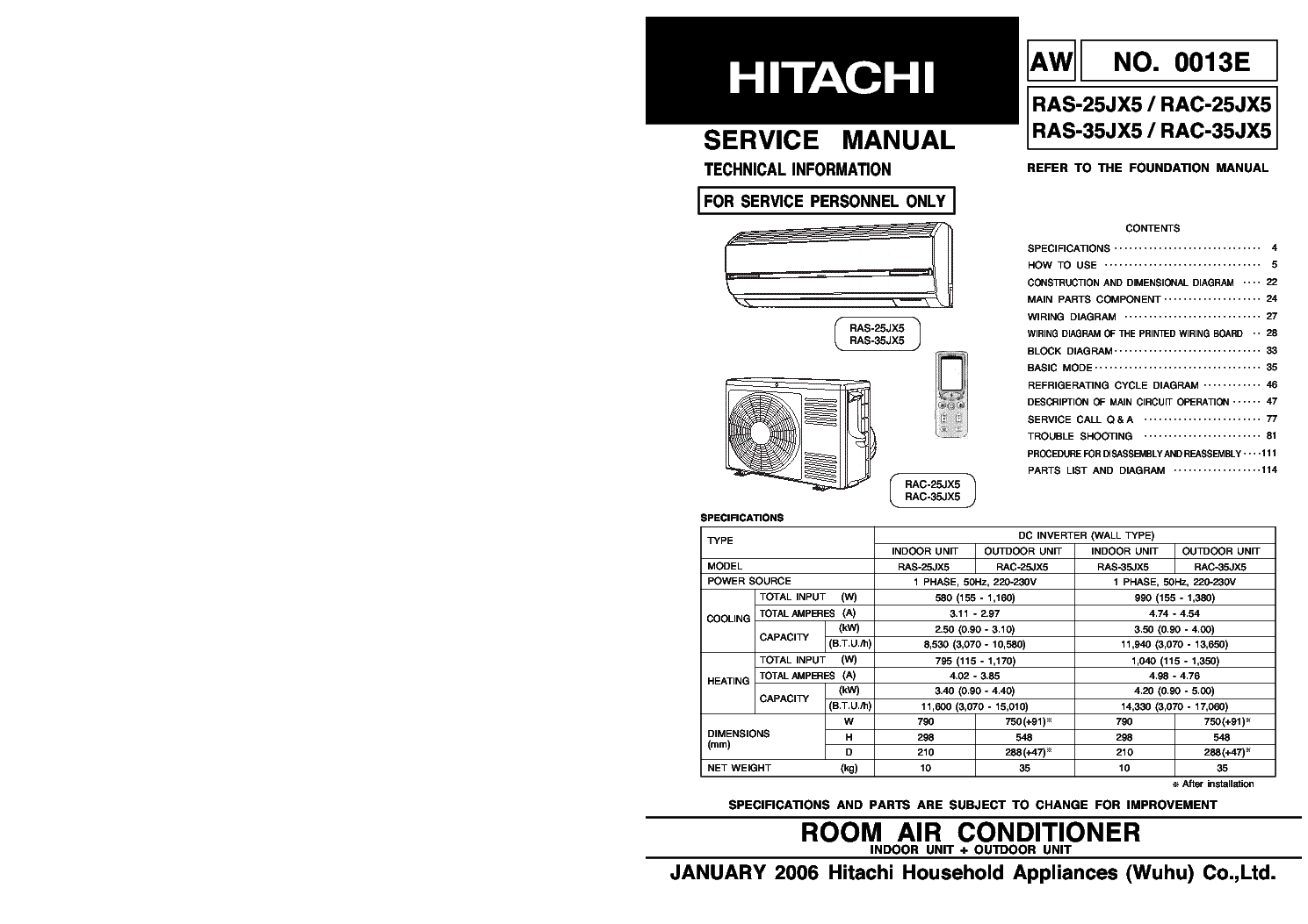 Hitachi Split Ac Manual